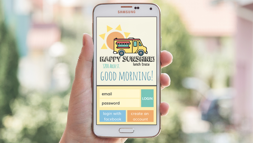 Mobile App Design for Happy Sunshine Food Truck