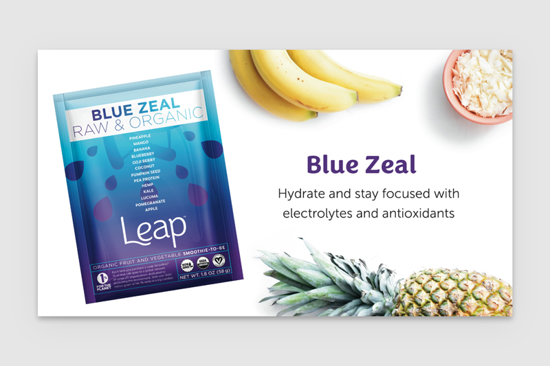 Hero Image for Leap Smoothies Product Page
