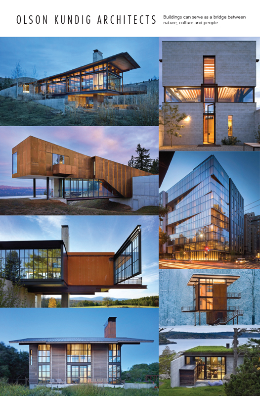 Mood Board/Inspiration for Olson Kundig Poster