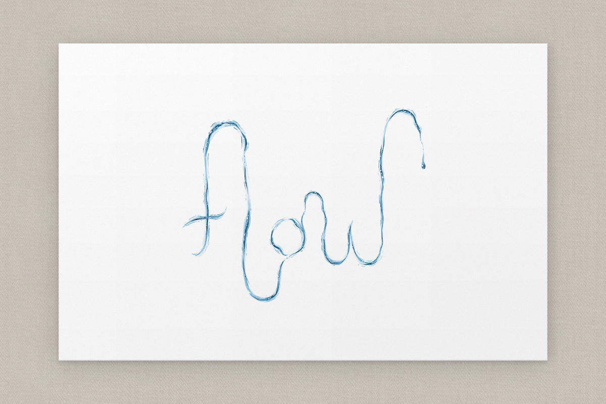 'Flow' Illustrated Word
